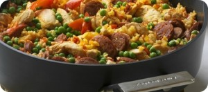 Spanish Paella with Chicken and Chorizo